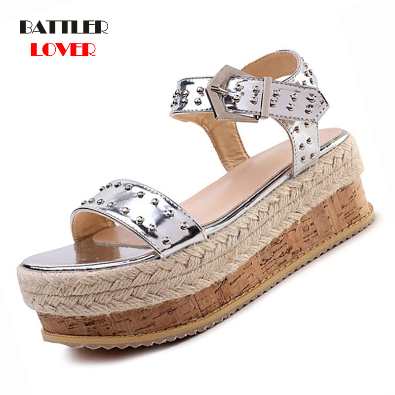 Wedges Shoes For Women High Heels Sandals Summer Shoes 2019 Flip Flop Sandal Chaussures Femme Platform Sandals Plus Size 35-42