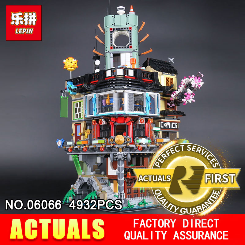 Lepin 06066 4932Pcs The Movies Series Creative City Model Educational Building Blocks Bricks Toys Model 7062 for Children gifts sermoido 02012 774pcs city series deep sea exploration vessel children educational building blocks bricks toys model gift 60095