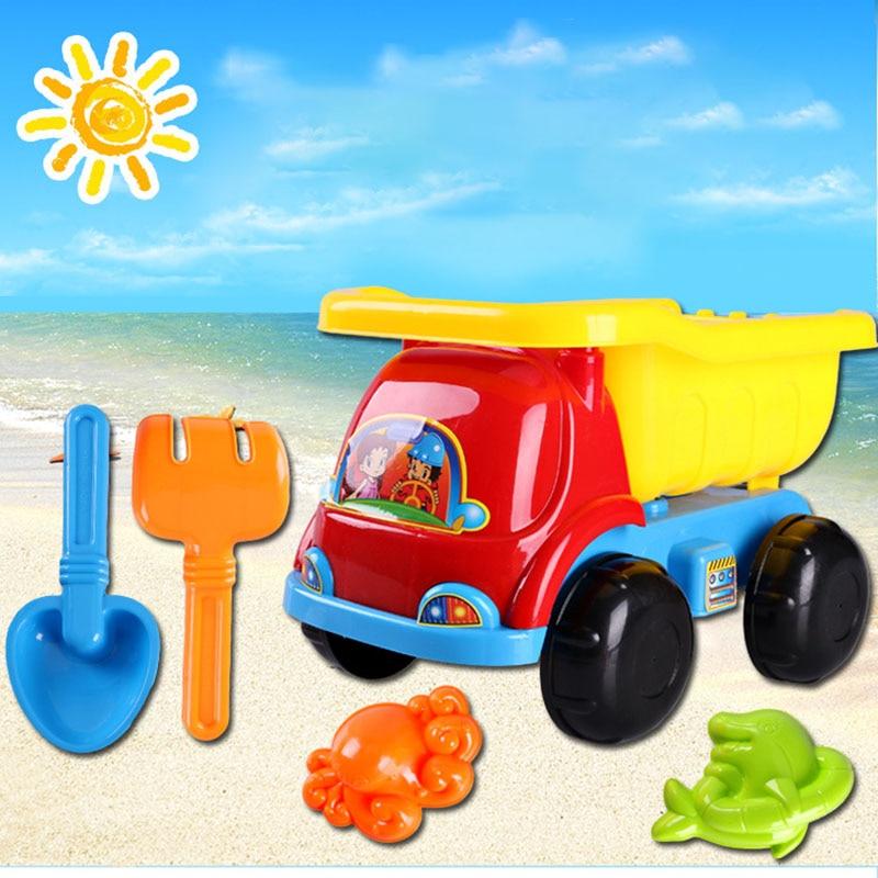 5pcs/set Summer Toy Beach Bike Children's Beach Toy Set Children Play Sand Toys For Baby Gifts