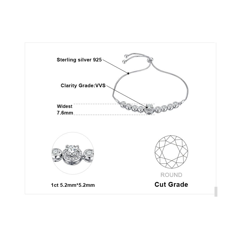 JewelryPalace CZ Love Bracelet 925 Sterling Silver Bracelet Bangles Bolo Bracelets For Women Silver 925 Jewelry Making Organizer in Strand Bracelets from Jewelry Accessories