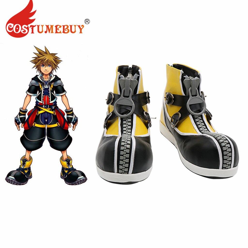 Déguisement jeu royaume coeurs 3 Cosplay Costume Sora bottes chaussures hommes femmes Halloween accessoires sur mesure