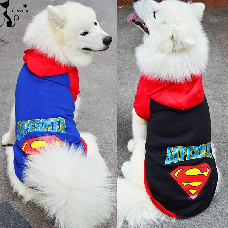 2XL - 9XL Large Pet Dog Clothes Warm Big Dog Coat Jacket With Hooded Sport Golden Retriever Clothing Winter Pet Costume Suit