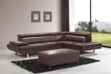 Elegant and rational Leather sofa Livingroom sofa sectional headrest adjustable--Wholesale and retail shipping to your port