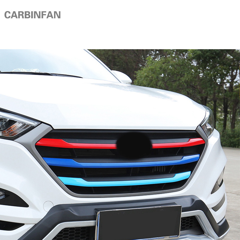 Carbon Style Center Console Armour Cover For Hyundai All New Tucson 2016~2018