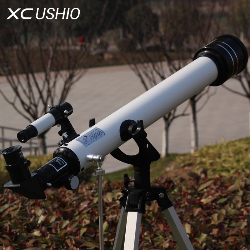 цены Monocular Space Astronomical Telescope Professional Astronomy Reflector Optics 525x Zenith Watch Tripod F60700TX Children Gift