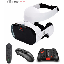 Fiit 3F VR Virtual Reality Headset+Gamepad 3D VR Glasses for Iphone X 8 LG Xiaomi Sony Watch Movies Video Immersive Eyeglasses стоимость