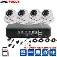 LWSTFOCUS 4CH CCTV Système Kits 1080 P HDMI AHD CCTV DVR 4 PCS 2.0MP IR Dôme Caméra de Sécurité 3000 TVL Caméra de Surveillance système