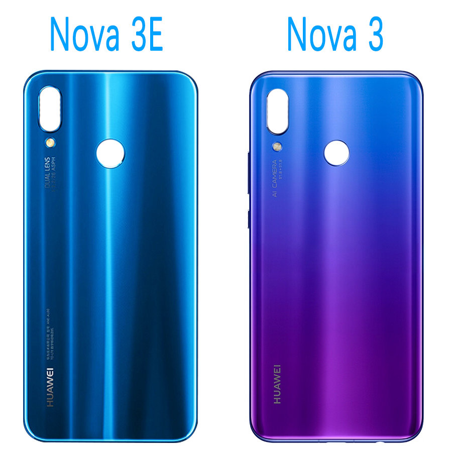 US $3 99 |Original Huawei Nova 3e P20 Lite Back glass Battery Cover Rear  Door Housing Case Panel Replace Huawei P20 Lite Battery Cover 3i-in Mobile