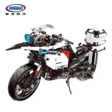 цены XINGBAO 03019 TECHNIC Motor Series Genuine 1075PCS The Patrol Motorcycle Set Building Blocks Motorbike Bricks Brinquedo Gifts