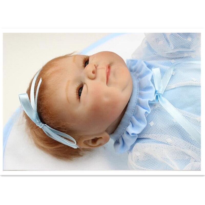 NPK Collection Reborn poupée Silicone doux poupées jouet 40 cm/16 pouces, réaliste poupée enfant cadeau d'anniversaire réaliste bébé nouveau Reborn jouet - 2