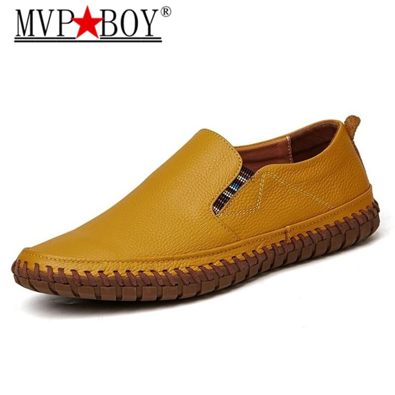 Grande Sur Véritable Hommes Mvp En Chaussures jaune blanc marron Italien Glissement Designer bleu Taille Noir Cuir Noir Garçon Mocassins g5wRqCxCS