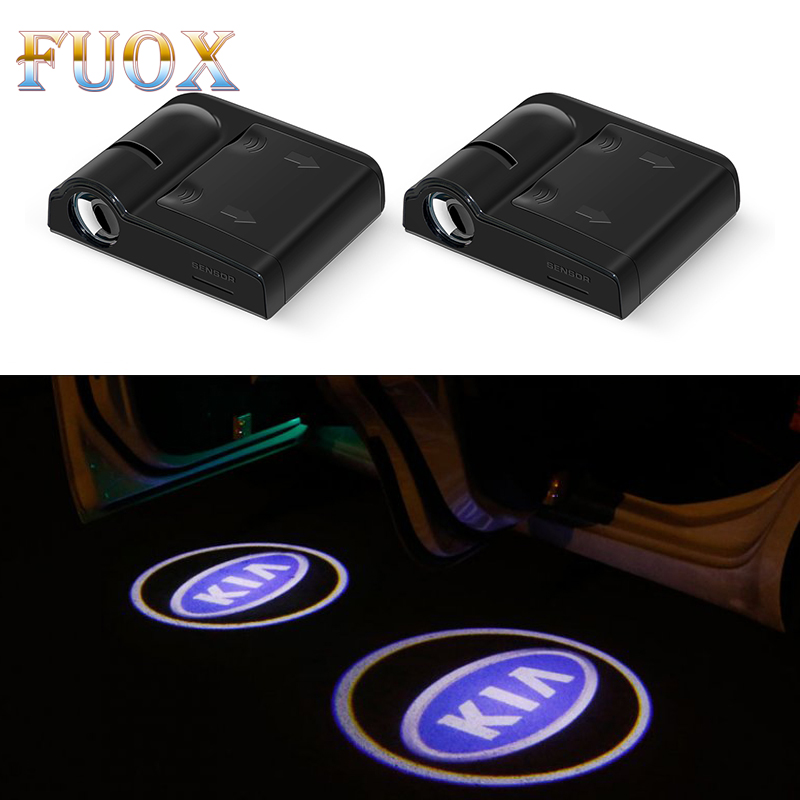 2pcs Wireless Car Door Welcome light LED Laser Projector For <font><b>KIA</b></font> Sid Rio Soul Sportage Ceed <font><b>Sorento</b></font> Cerato K2 K3 K4 K5 Styling image