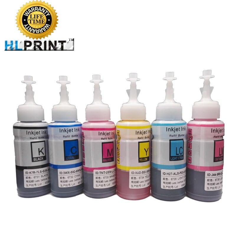 100 ml kit compatível epson l800 l801 l805 l810 l850 l1800 tinta da impressora t6731 t6732 t6733 t6734 t6735 t6736
