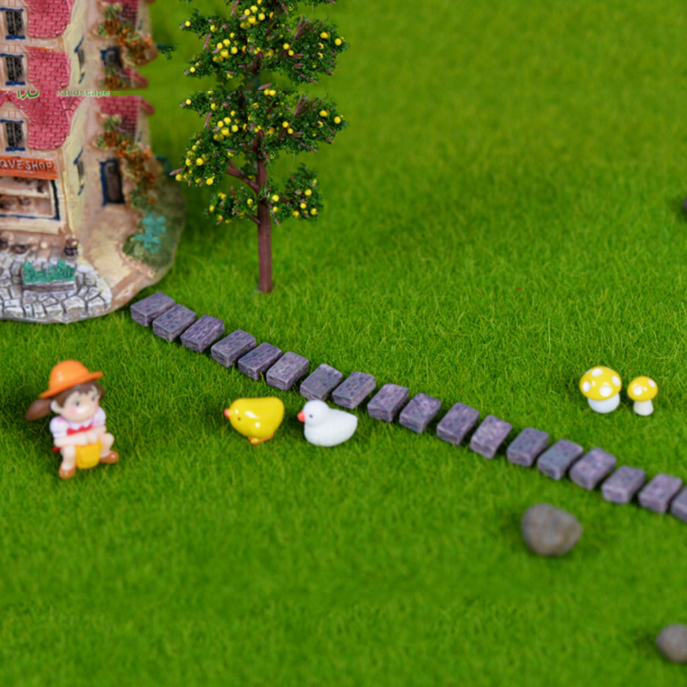 10 Pcs Resin Stone Wall Brick Fence Accessories Figurines Toys ...