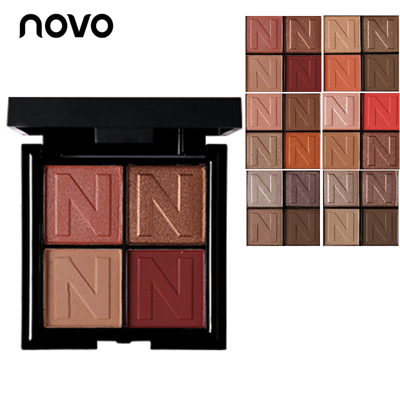 2018 NOVO Natural Matte Glitter Eyeshadow Palette Shimmer paleta Makeup pallete Smoky Sombra Shining EyeShadow Makeup pallete