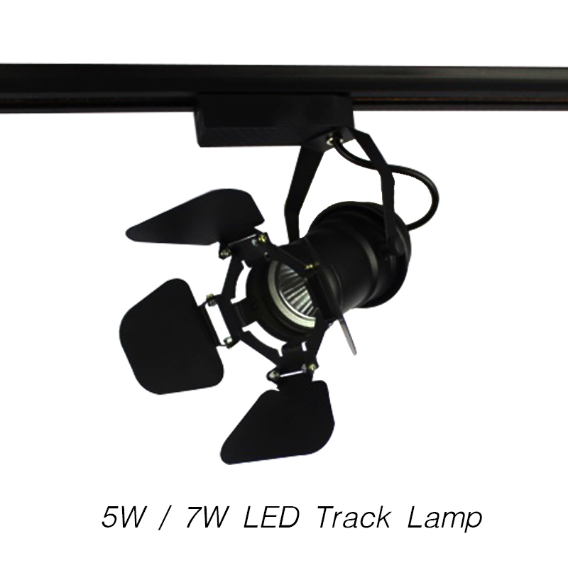 LED Track Light COB AC85-265V 30 Angle 5W / 7W Art Lamp Modern Style Spotlight Lighting Upscale Market Clothing Shop Decoration