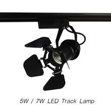 LED Track Light COB AC85-265V 30 Angle 5W / 7W Art Lamp Modern Style Spotlight Lighting Upscale Market Clothing Shop Decoration