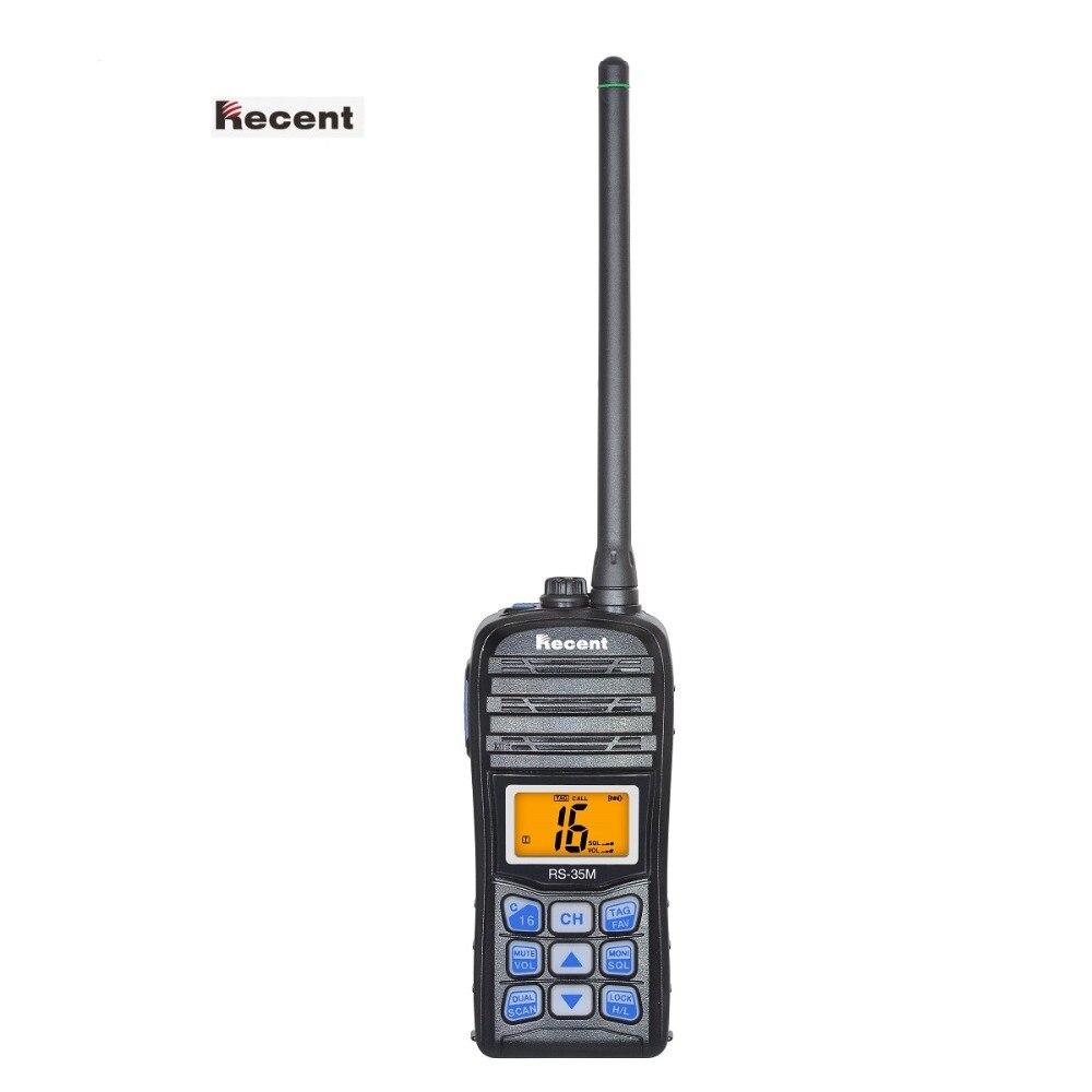 Récente RS-35M Marine Radio IP67 Étanche À La Poussière LCD Affichage Flotteur Double/Tri-montre Auto Scan Jambon Interphone VHF émetteur-récepteur