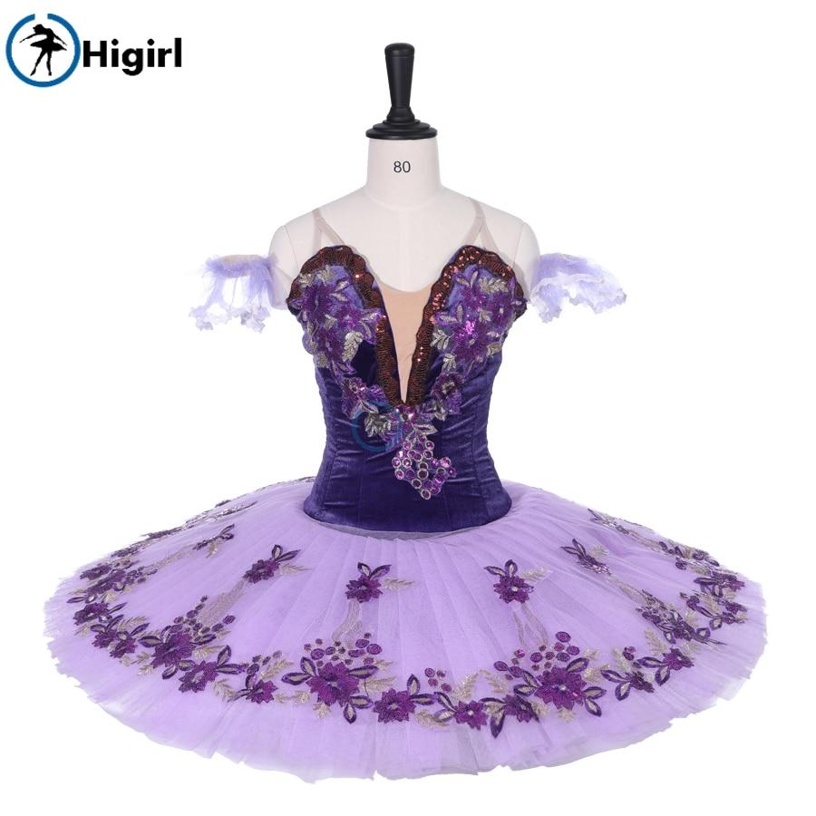 täiskasvanute sametlilla balleti tutu lapse klassikalise balleti tutu võistlustel tutu naiste professionaalse balleti kostüümidBT9092