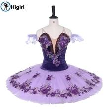 2016 New Arrival!adult velvet purple ballet tutu,purple classical competiton tutu professional costumes for women