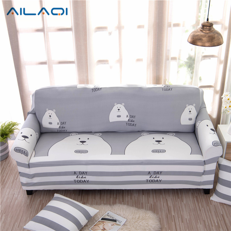 AILAQI Cute Sofa cover flexible Stretch Big Elasticity Couch cover Loveseat sofa Funitur ...