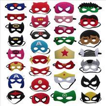 31pcs /lot Superhero Halloween Costumes Cosplay Mask Xmas Superman Batman Spiderman Anime Masquerade Kids Birthday Party