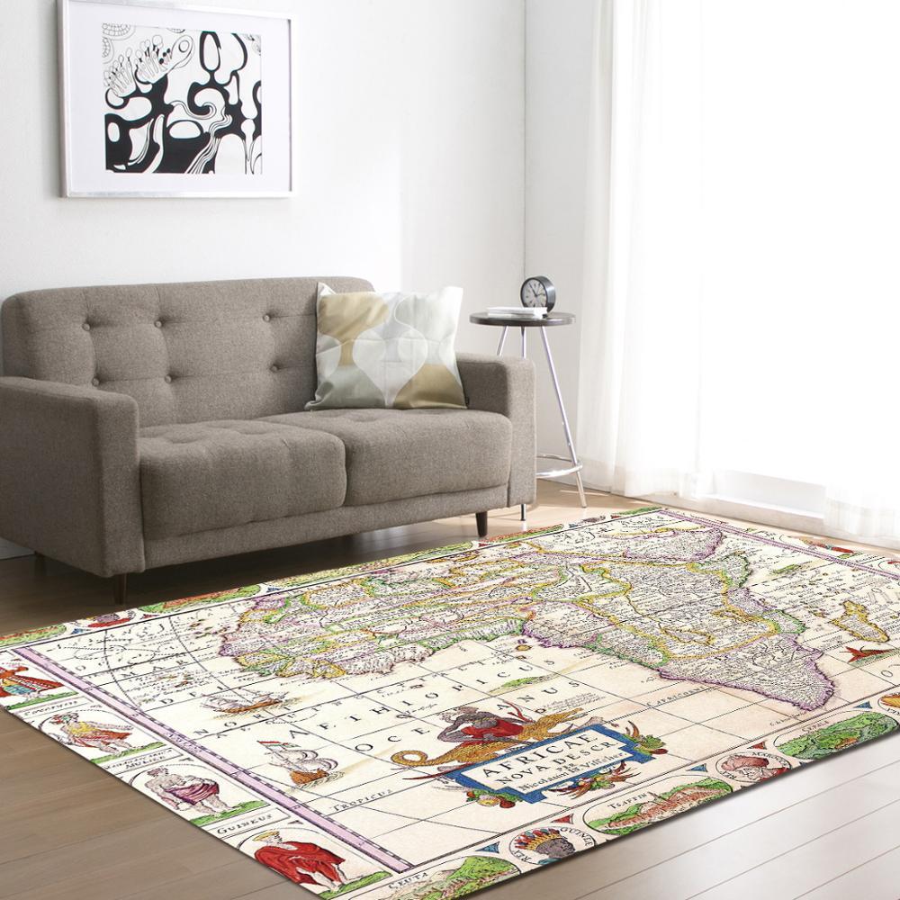 Nouveau monde carte motif grande surface tapis enfants jouer salon chambre décor à la maison chambre bureau chaise tapis de sol tapis de chevet tapis