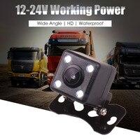 Car Truck 12V 24V Reverse Rear View Parking Camera For Monitor Head Unit LED Night Vision