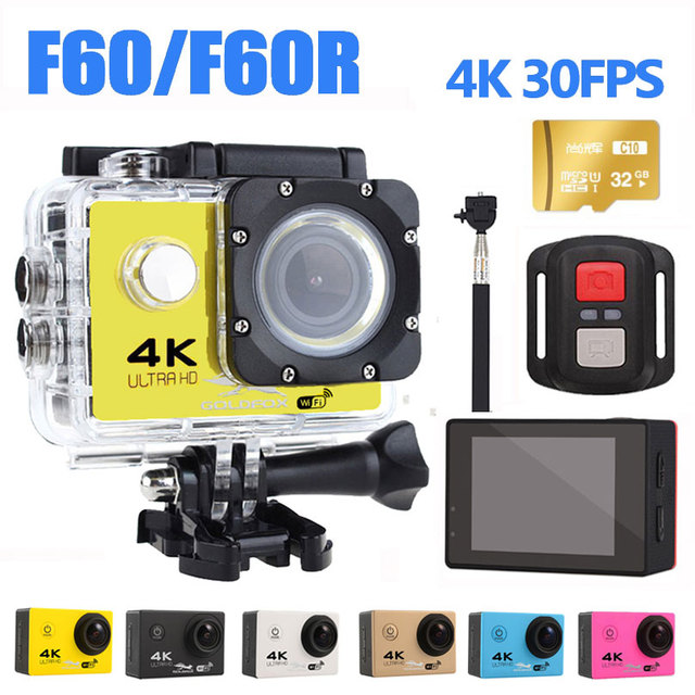 4K WIFI Sports Action Camera With Remote Control Ultra HD go Waterproof Underwater pro 30M Camcorder 16MP 170 Degree Wide Angle
