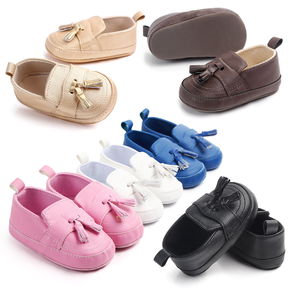 Baby Boy Leather Moccasin  Infant Boy Shoes Black Baby Shoes New Born Leather Shoes  Leather Baby Boy Shoes For 0 -1year Babies