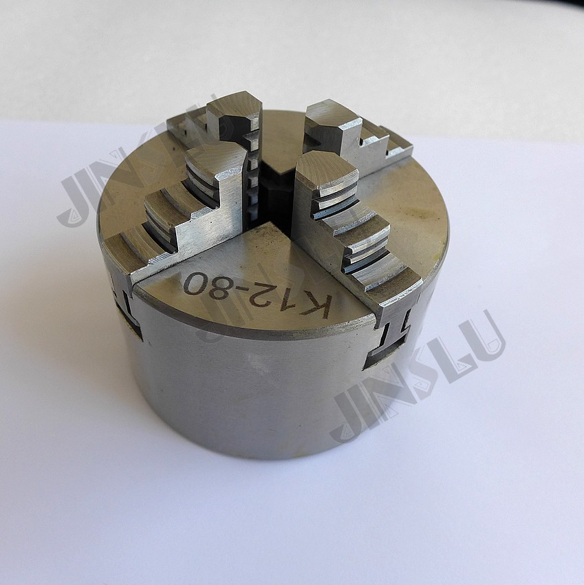 K12-80 4 Four Jaw Lathe Chuck Cartridge with Self-Centering Machine Tools Accessories for Lathe JINSLU 3 3 jaw lathe chuck k11 80 k11 80 80mm manual chuck self centering lathe parts diy metal lathe lathe accessories
