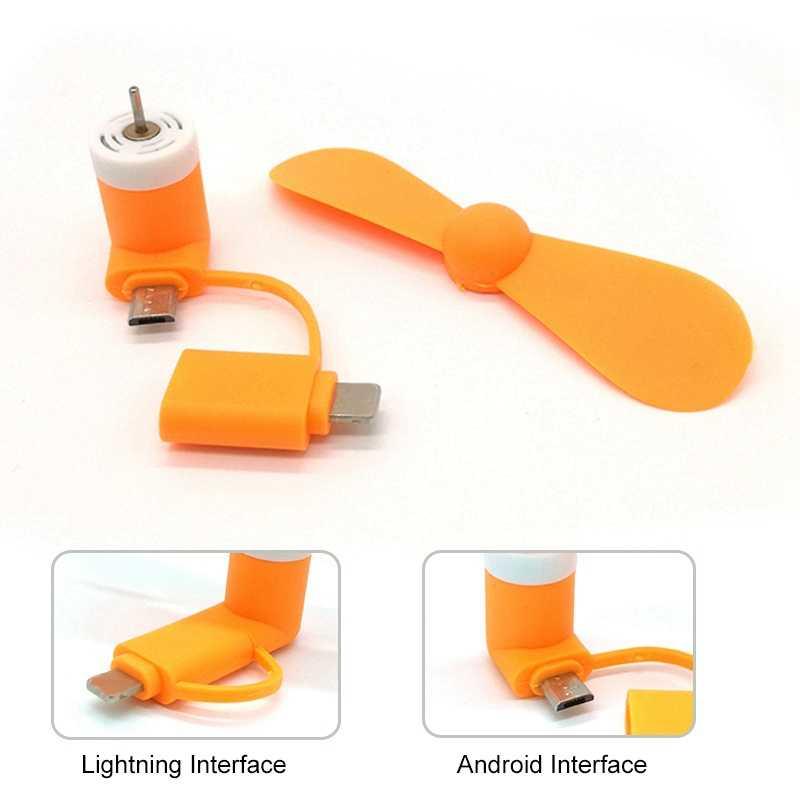 Mini Kühlen USB Fan Handy Gadget Tester Für iPhone Xs X Xr Max 8 7 6 5 USB Fans für Android Samsung Micro Zufällige Farbe