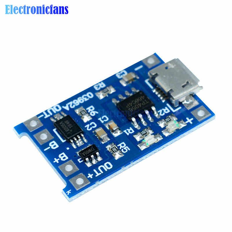 5 pièces Micro USB 5V 1A 18650 TC4056A remplacer TP4056 Module de chargeur de batterie au Lithium avec panneau de Protection de décharge indicateur LED