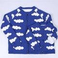 Muchachas de los bebés ropa de abrigo parentting primavera otoño, además de terciopelo de algodón suéter de punto chaqueta madre y daughte clothing