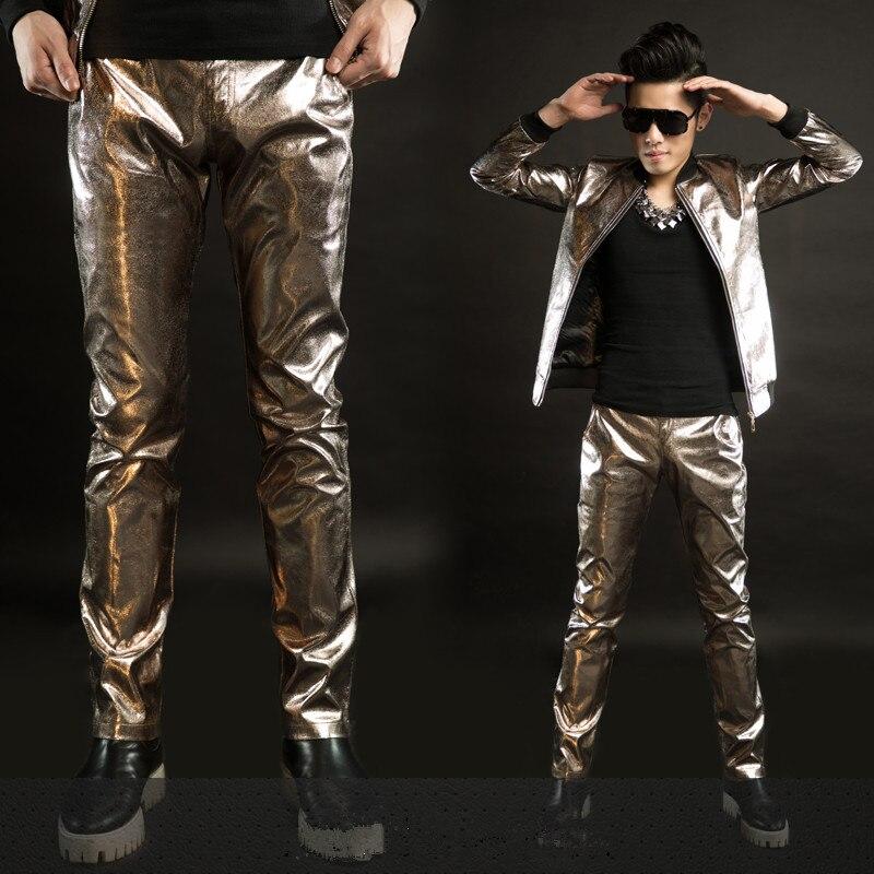 Laine Conjonction Plus De Costume Imitation Survêtement Chant Léopard Jacket En Cuir Silm Stade Le 2016 Veste pants Mâle Fourrure Manteau wqP101