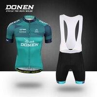 ДОНЕН Новый велосипед Racing Team короткий рукав Для мужчин Велоспорт трикотаж комплект Наборы летние дышащие Велосипедная форма комплекты Май