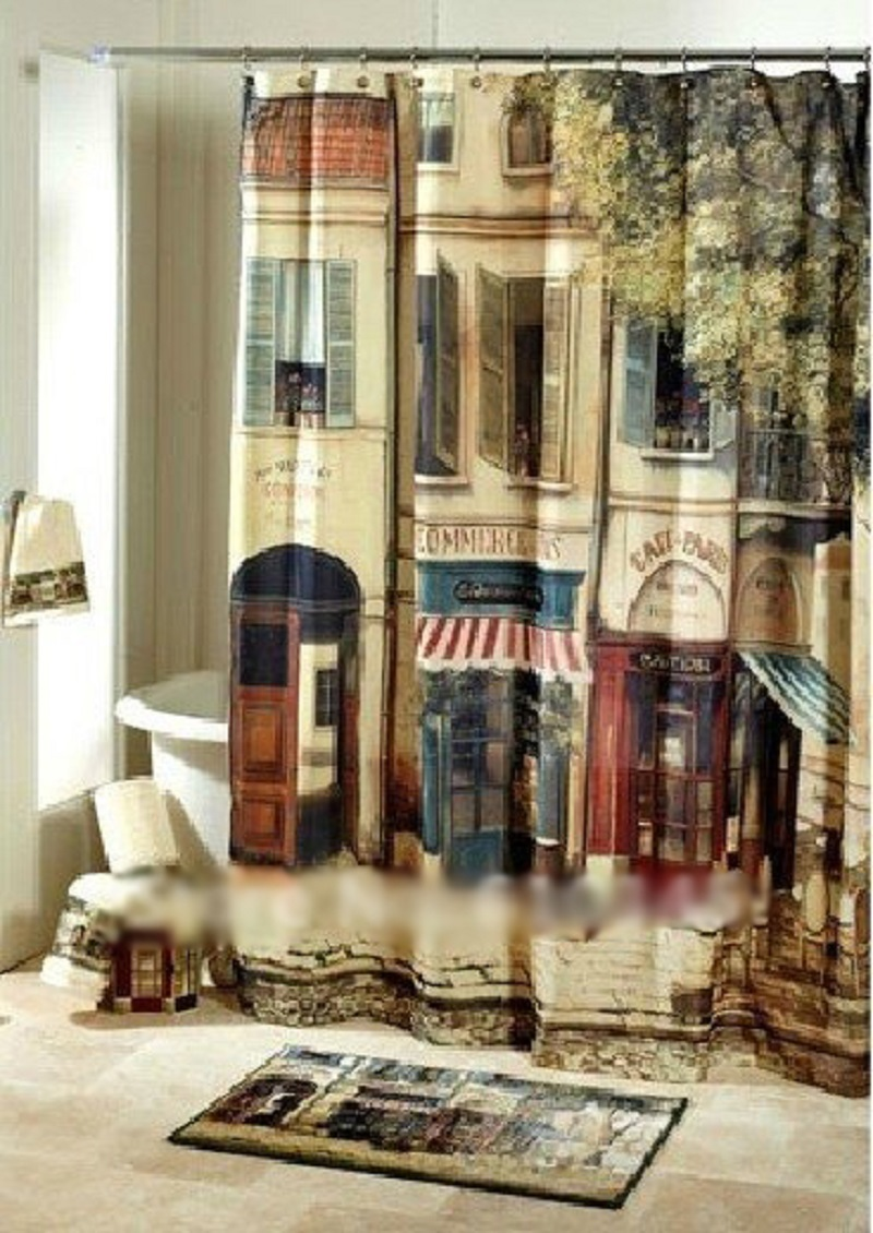 Nice Curtains nice font curtains an style color pattern door Nice Curtains 180cmx180cm Vintage Coffee House Shower Curtain Waterproof Polyester Mouldproof Bathroom Curtainchina