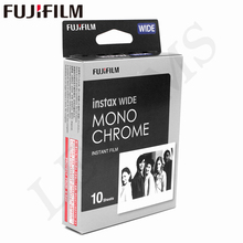 Genuine Fujifilm Instax Wide Monochrome Film White 10 Sheets for Fuji Instant Photo paper Camera 300/200/210/100/500AF