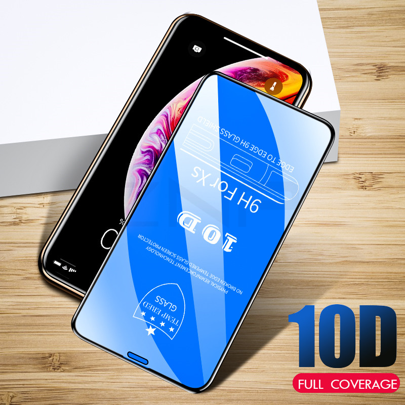 Image 5 - ZNP 10D Protective Glass on the For iPhone 6 6s 7 8 plus XR X XS glass full cover iPhone Xs Max Screen Protector Tempered Glass-in Phone Screen Protectors from Cellphones & Telecommunications
