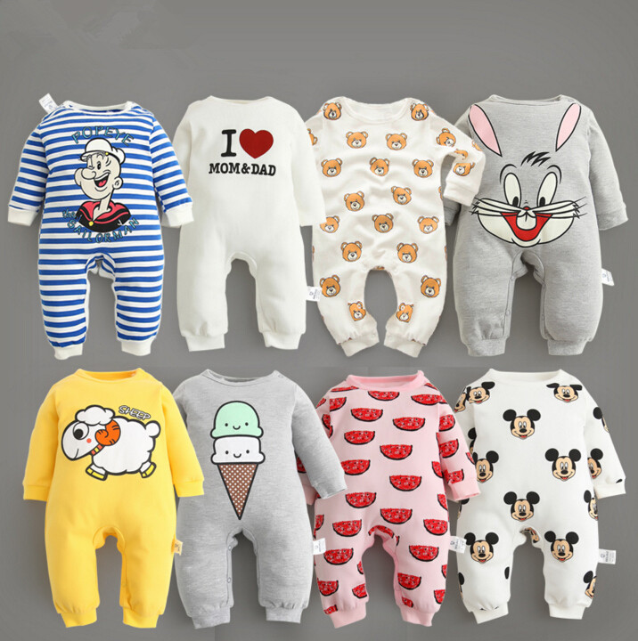 Baby clothes 2017 new arrive newborn bodysuits baby spring autumn wear pure cotton infant clothing baby