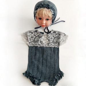 Image 3 - Ylsteed 2Pcs סט אבזרי יילוד תינוקות ירי תלבושות תינוק ילד ילדה תחרה בגדי תינוק אבזרי צילום יילוד מקלחת מתנה