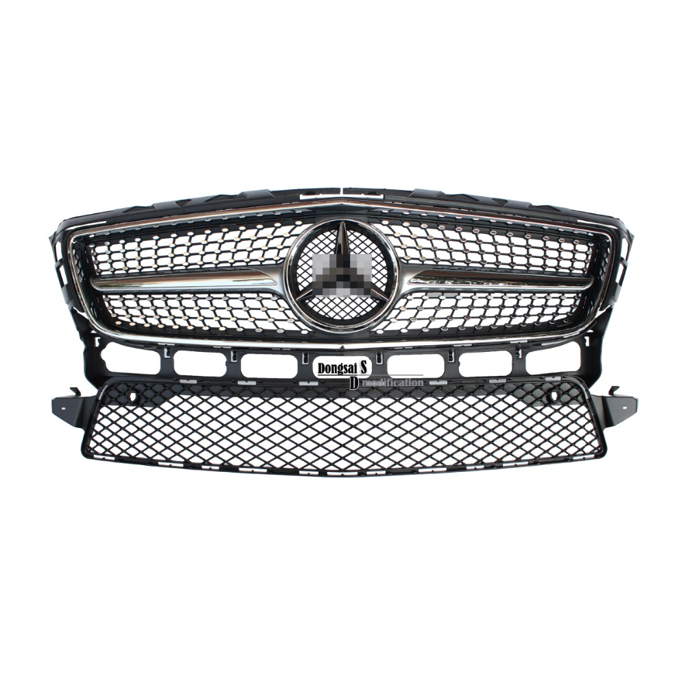 Mercedes W218 CLS350 Diamonds Front ABS Grille Grille fit for Benz 2012 2014 CLS 350 AMG