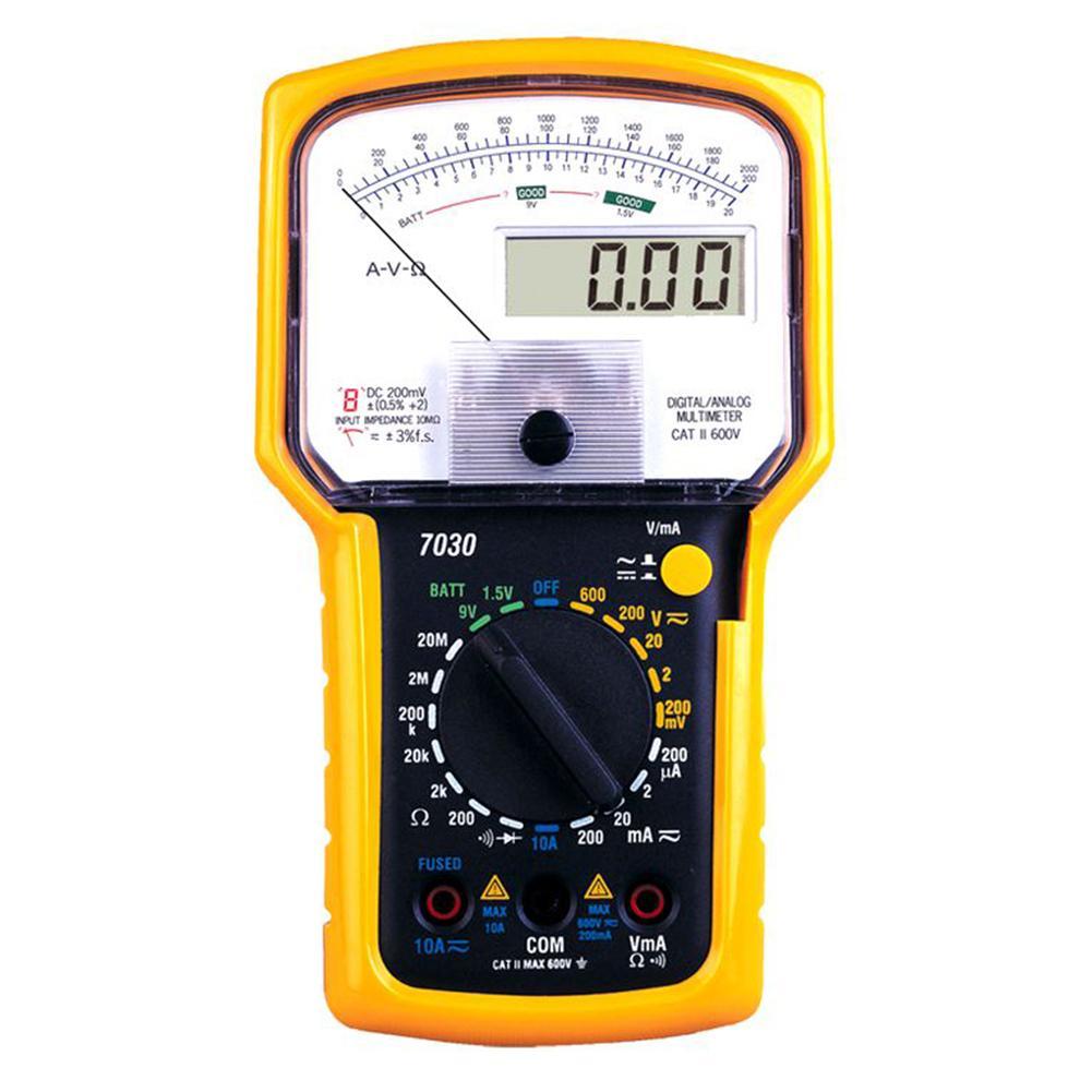 KT7030 double numérique analogique multimètre tension courant OHM outil testeur précis ensemble
