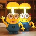 Minions Cartoon Folding LED Night Light Money Box Baby Room Kids Bed Lamp Sleeping Night Lamp Decoration Eyeshield Table Lamp