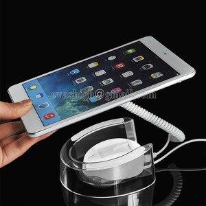 10xAcrylic tablet security display stand Ipad burglar alarm system Samsung pad anti-theft holder for retail shop