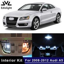 Edis светильник, 17 шт., белые, голубые, светодиодные лампы canbus, автомобильные лампы, интерьерная посылка, комплект для 2008-2012 Audi A5 S5, карта, купольная дверная пластина, светильник