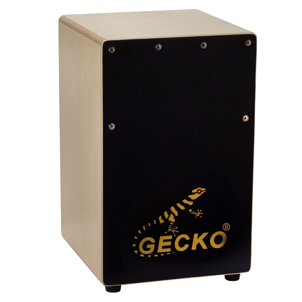 GECKO Cajon Drum Box, Birch Plywood Mini Box Drum with String Structure Inside and Alloy Screw Adjustable бра reccagni angelo 6208 a 6208 1