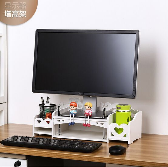 white computer desk with keyboard tray keyboard drawer lcd monitors increased shelf computer desk keyboard tray base frame desktop storage rack compartment thickness 8mm
