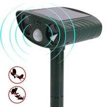 2018 new Solar animal driver Outdoor do/cat driver Garden orchard bird repeller Infrared sensor ultrasonic drive device