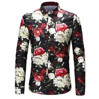 INCERUN 2018 Mens Quần Áo Dài Tay Áo Slim Shirt Casual Thể Stylish Sơ Mi Tops Stylish Mens Floral In Sơ Mi